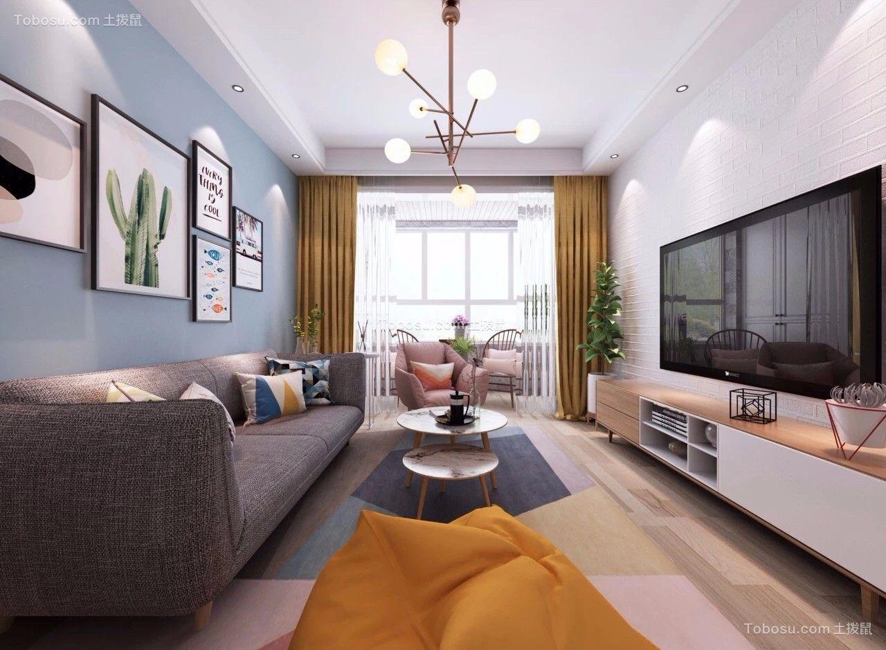 90平米北欧风格两居室装修效果图