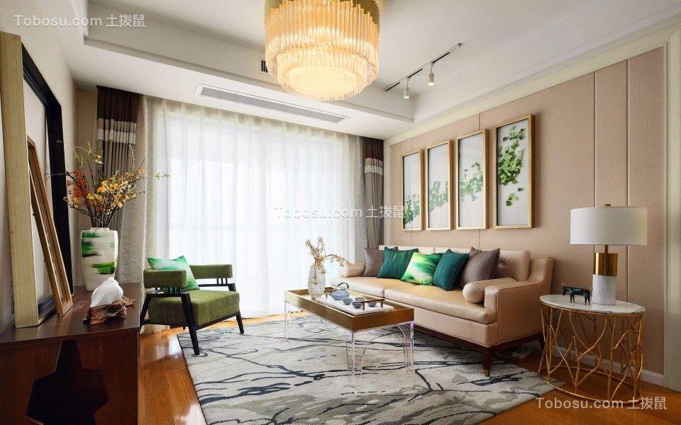 114平米欧式风格三室通厅装修效果图