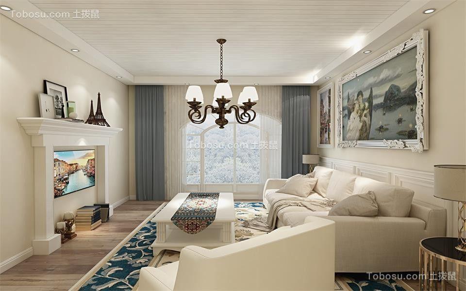 110平欧式风格套房装修效果图