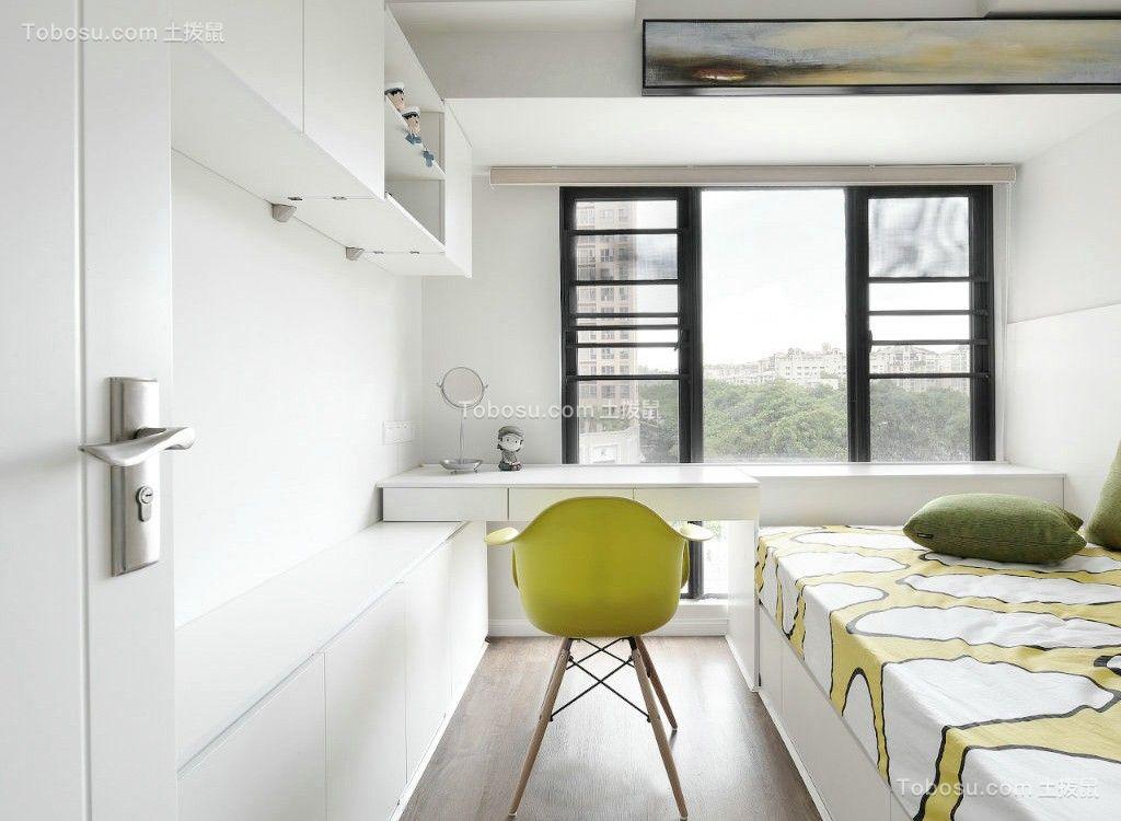 卧室白色书桌现代风格装饰效果图