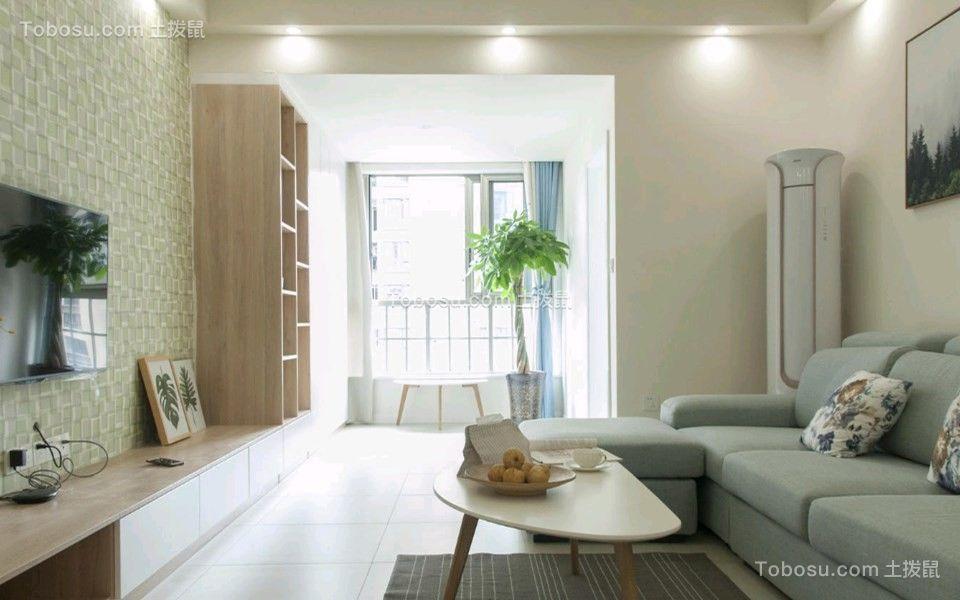 70平北欧风格两居室装修效果图