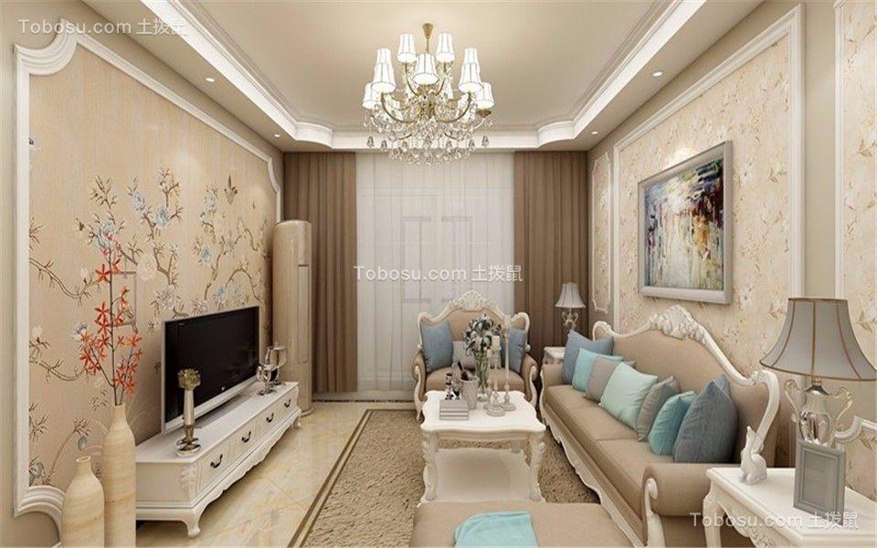 淮矿东方蓝海三室两厅欧式与中式结合效果图