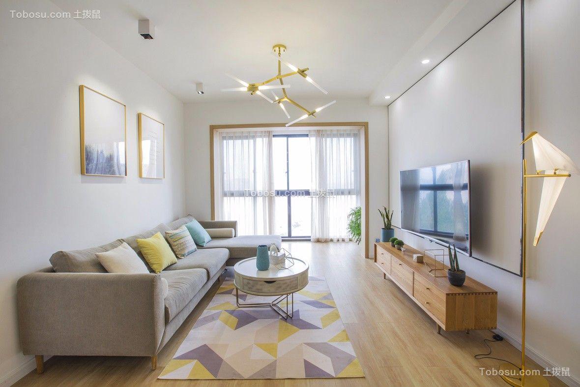 98平现代风格三居室装修效果图