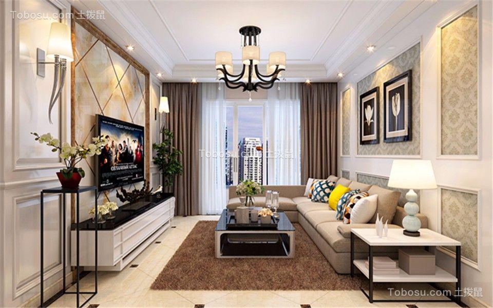 绿地新都会三室两厅现代简约效果图