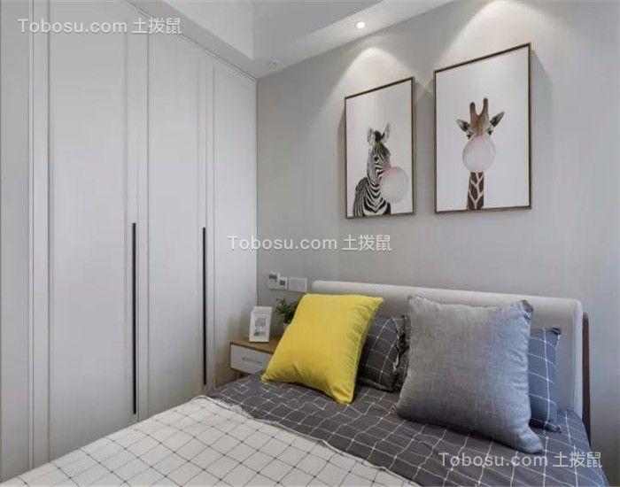 卧室白色衣柜简约风格装修图片