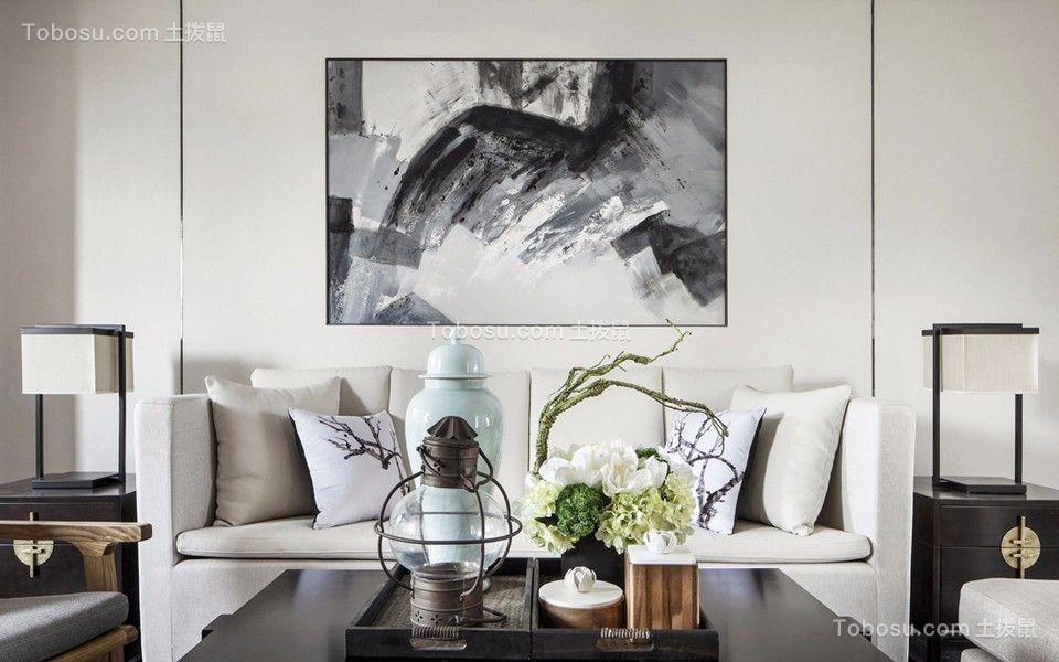 80平中式风格两居室装修效果图