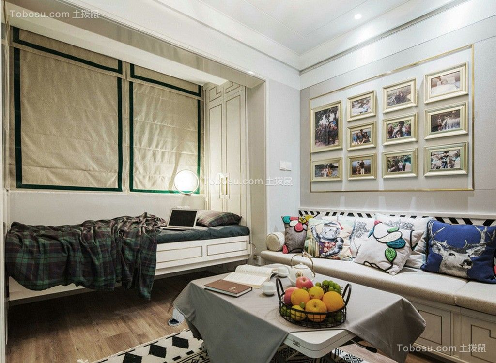 92平北欧风格两居室装修效果图