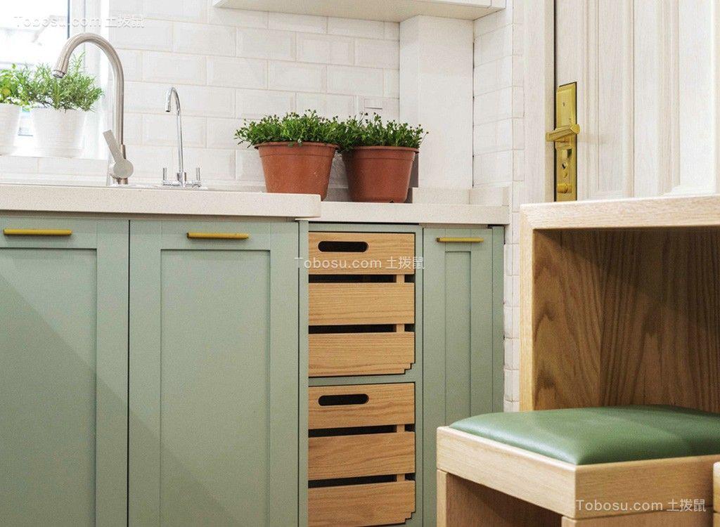 厨房橱柜北欧装饰实景图