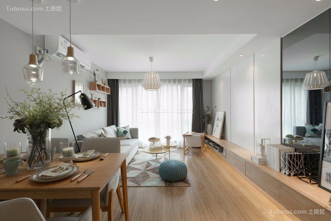 160平现代风格三室两厅装修效果图
