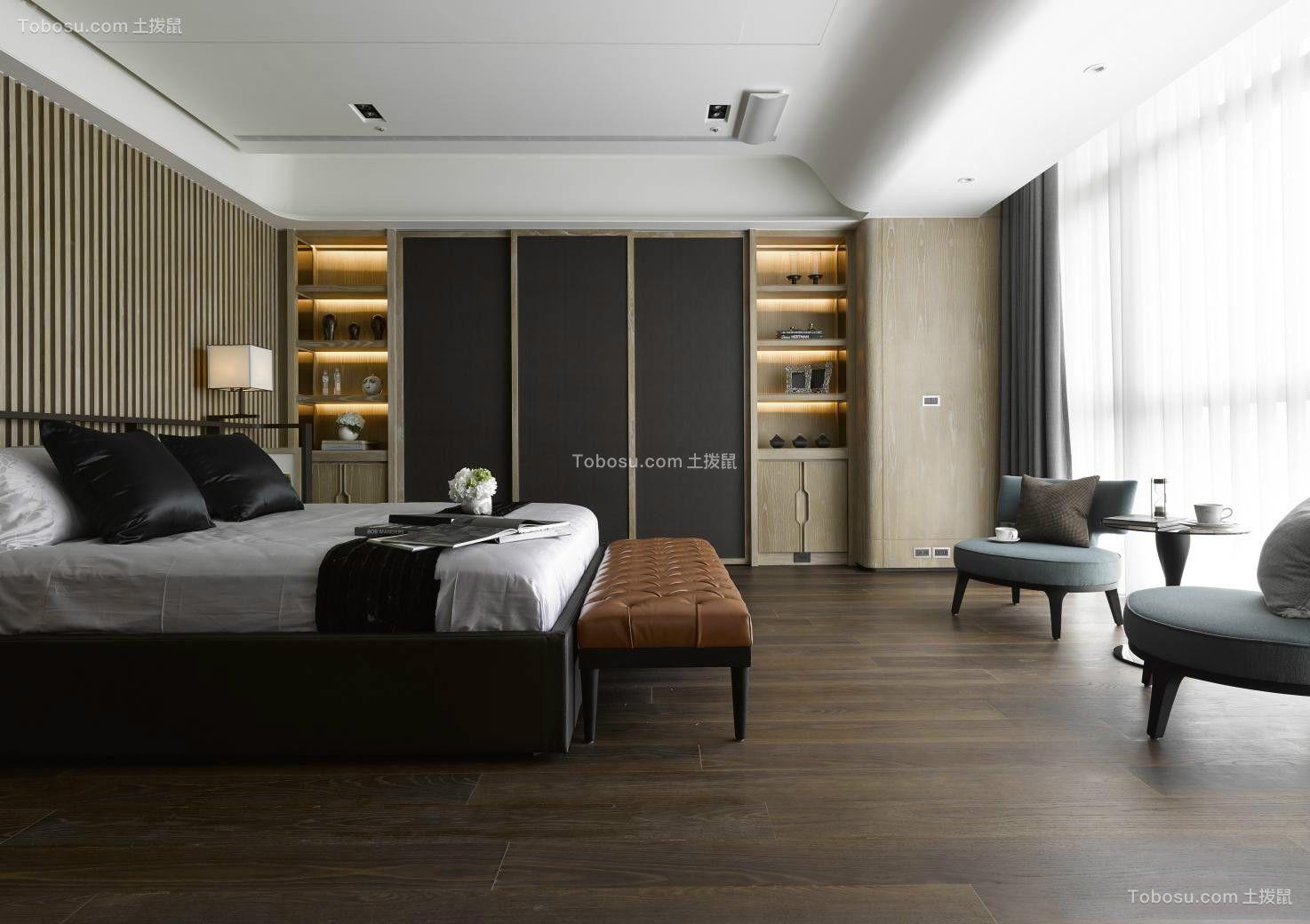 沉稳卧室床设计图欣赏