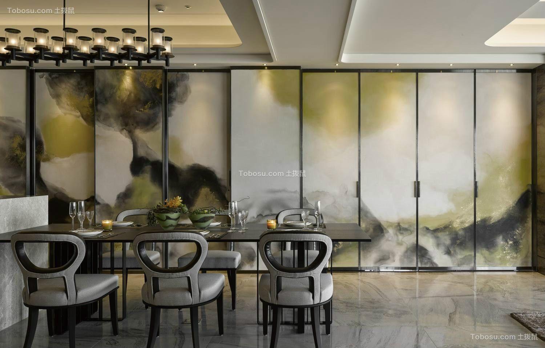 餐厅黑色餐桌现代风格装修效果图