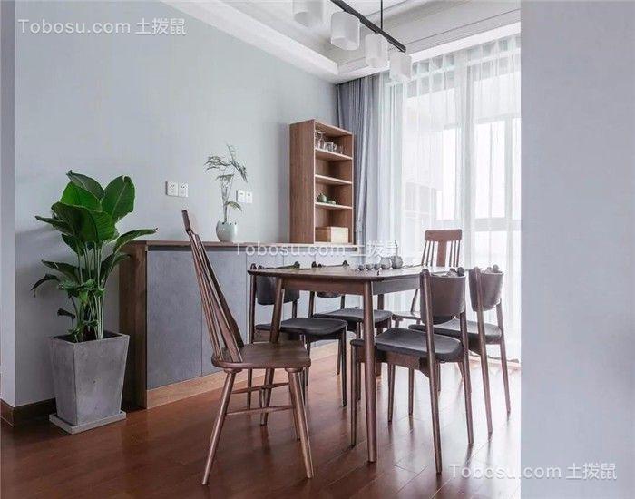 餐厅咖啡色地砖北欧风格装饰设计图片