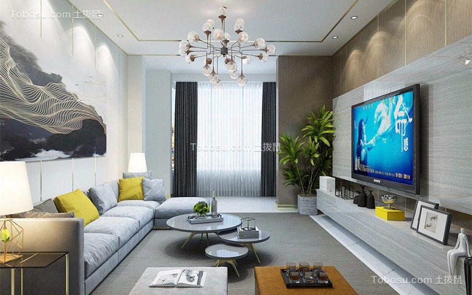 94平现代简约风格两居室装修效果图