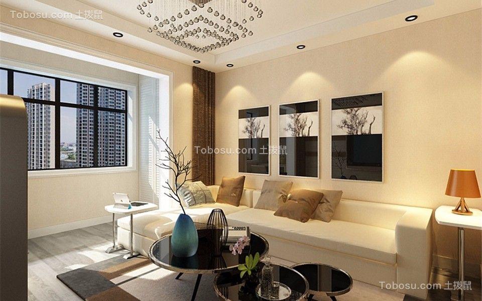 90平米现代风格两居室装修效果图