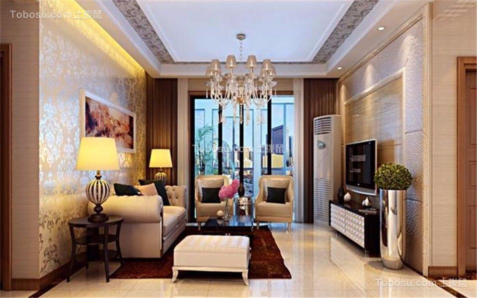 98平米简欧风格两居室装修效果图