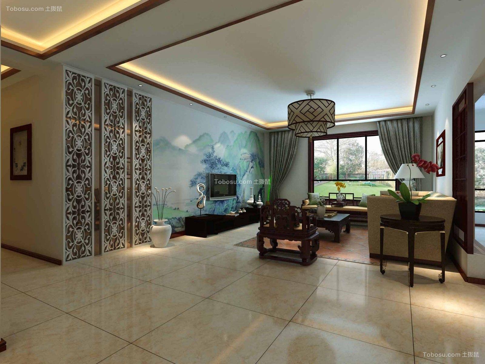 140平米新中式风格四居室装修效果图