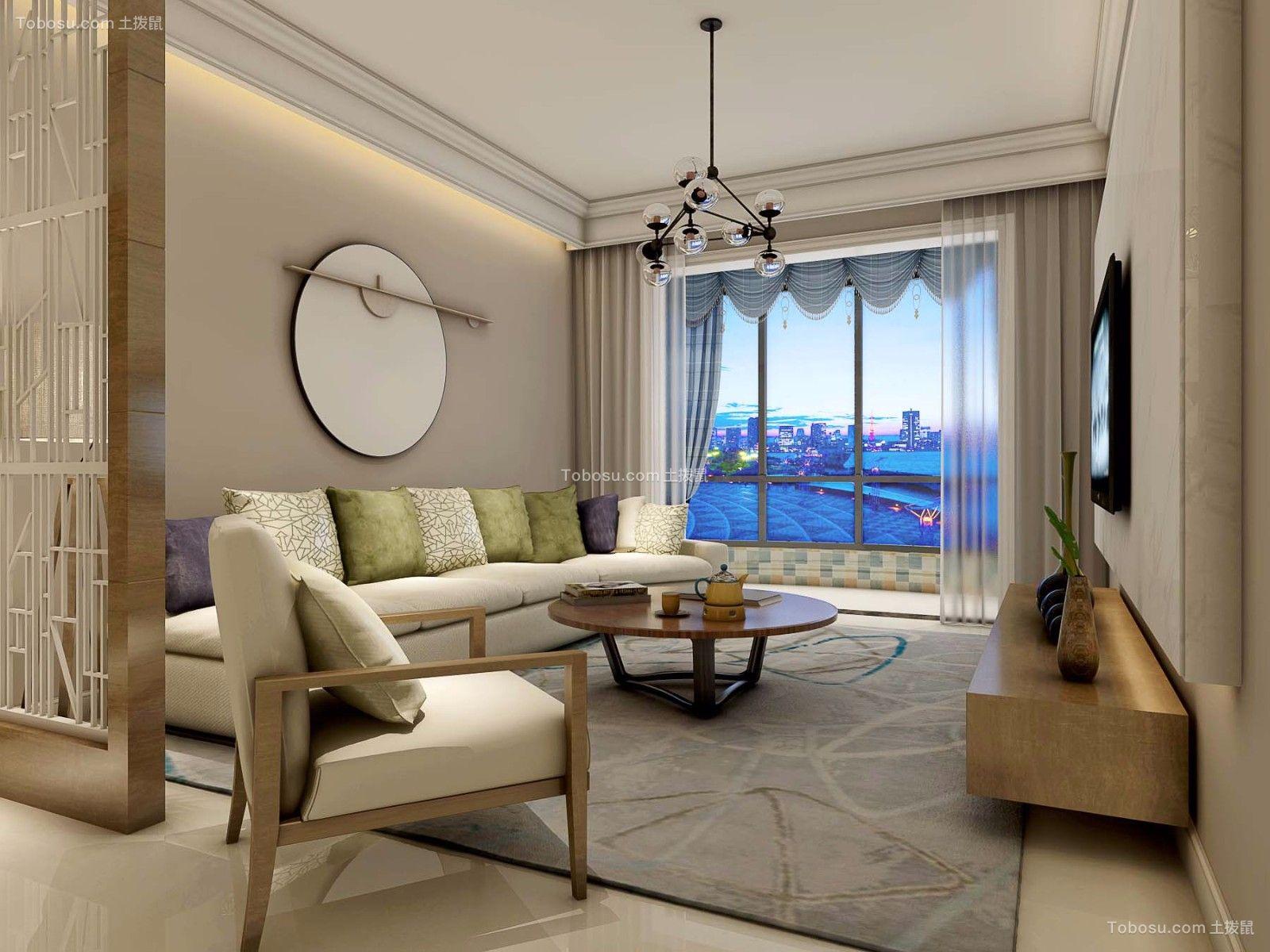 110平米北欧风格三居室装修效果图