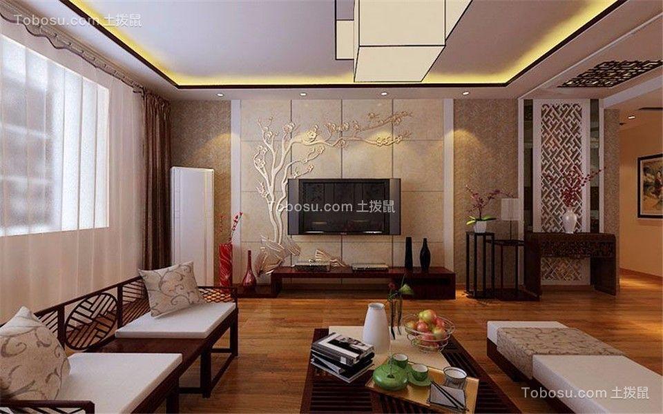 145平新中式风格四居室装修效果图