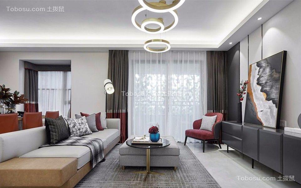 72平简欧风格两居室装修效果图