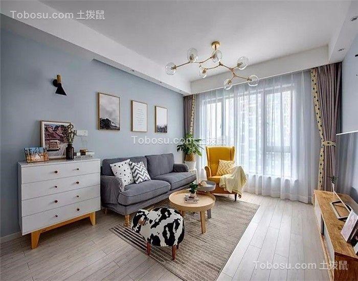 87平北欧风格三居室装修效果图