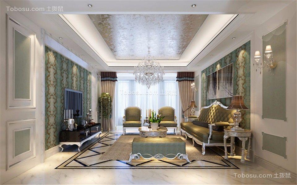 118平欧式风格三居室装修效果图