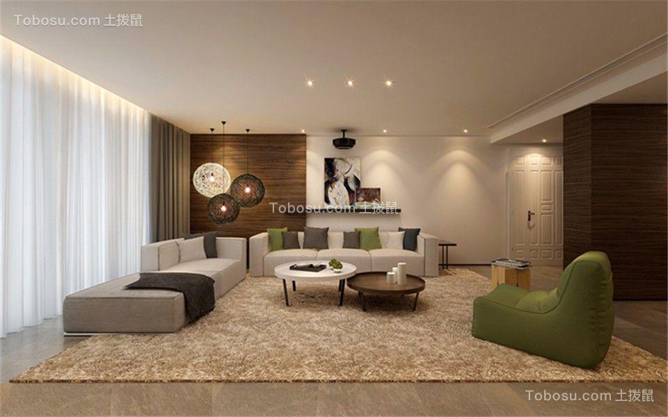 133平现代简约风格四居室装修效果图