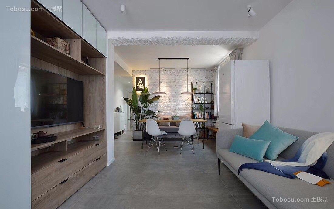 178平现代风格三居室装修效果图