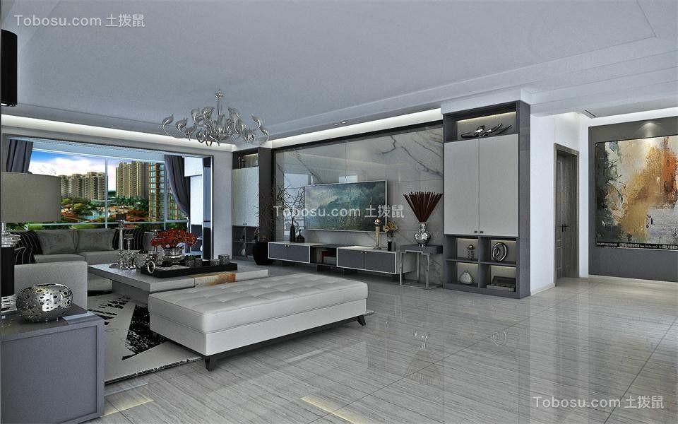178平后现代风格三居室装修效果图