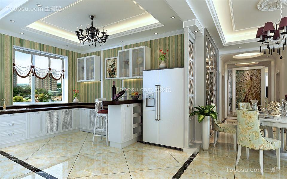 厨房 橱柜_178平欧式风格四居室装修效果图