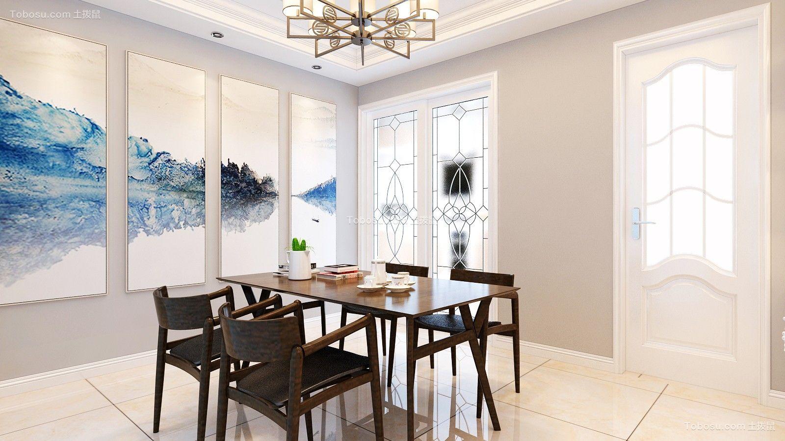 餐厅彩色背景墙简约风格效果图