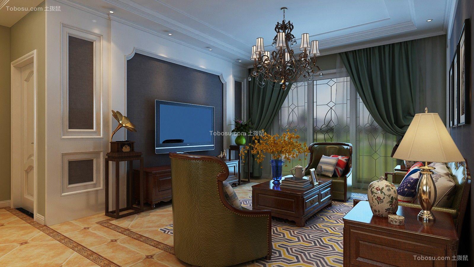 178平美式风格楼房装修效果图