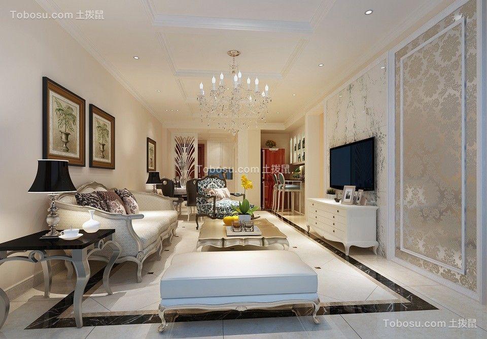 108平简欧风格两居室装修效果图