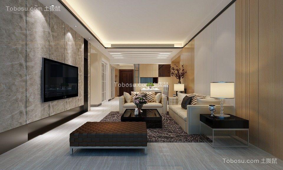 178平现代风格两居室装修效果图