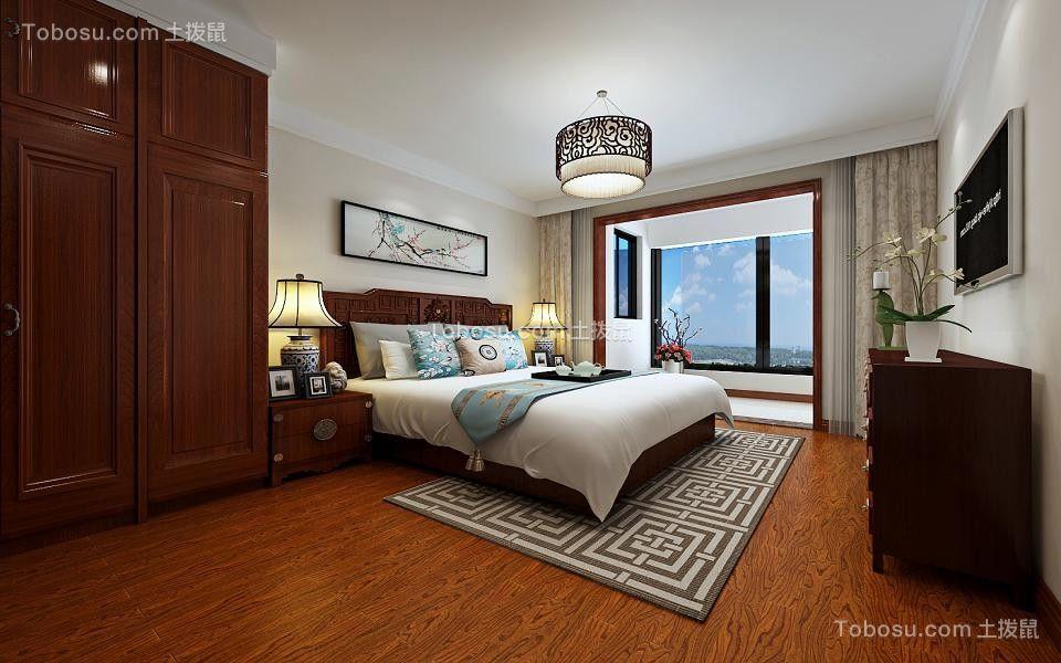 卧室红色衣柜中式风格装饰效果图