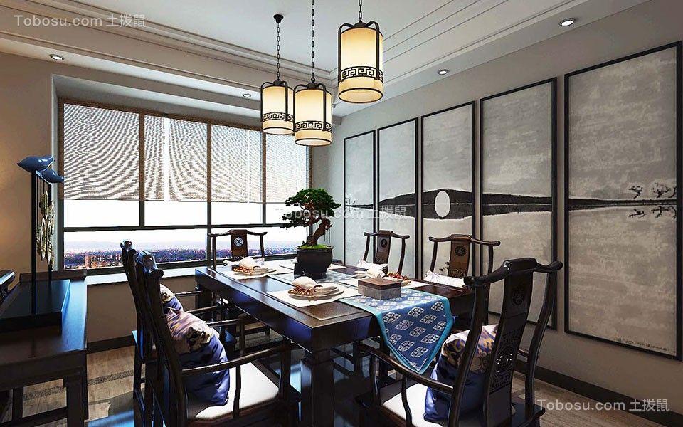 120平北欧风格三居室装修效果图图片