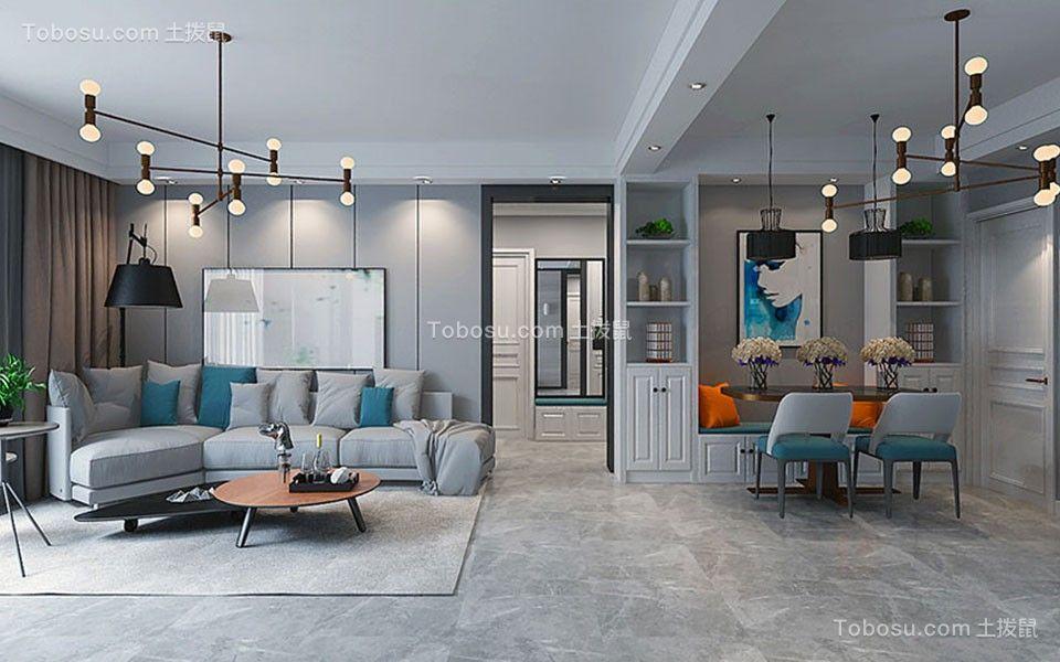 174平简欧风格三室两厅两卫一厨装修效果图图片