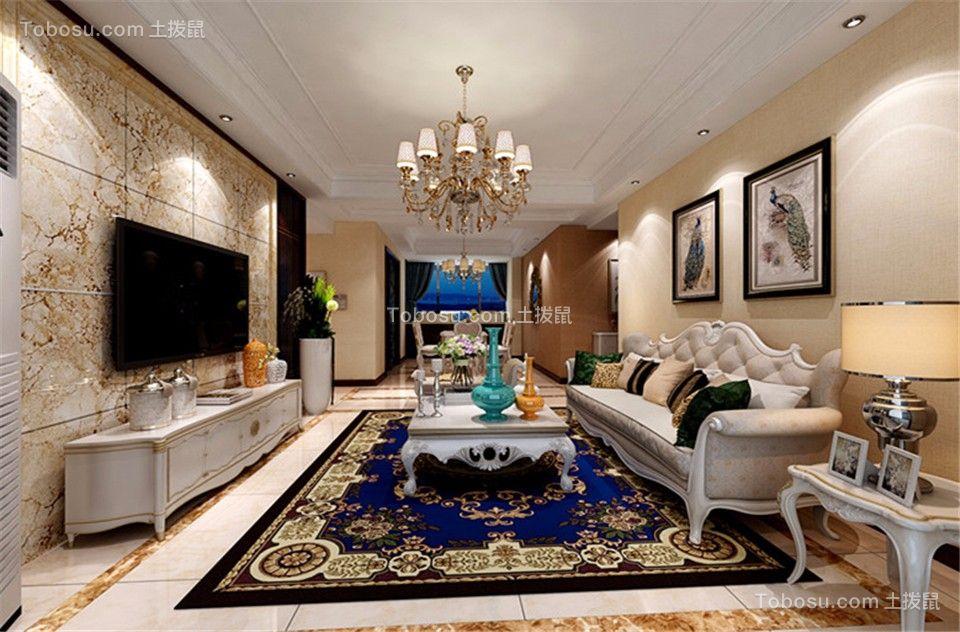 160平欧式风格四居室装修效果图