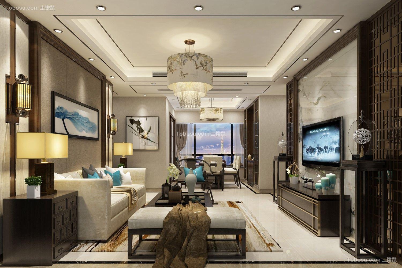 150平新中式风格四室三厅两卫装修效果图