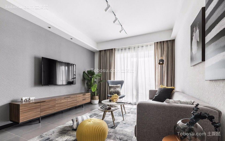 79平北欧风格两居室装修效果图