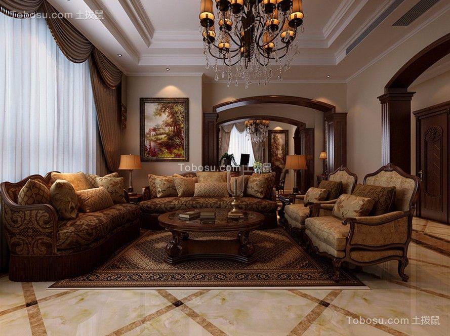 288平美式风格别墅装修效果图