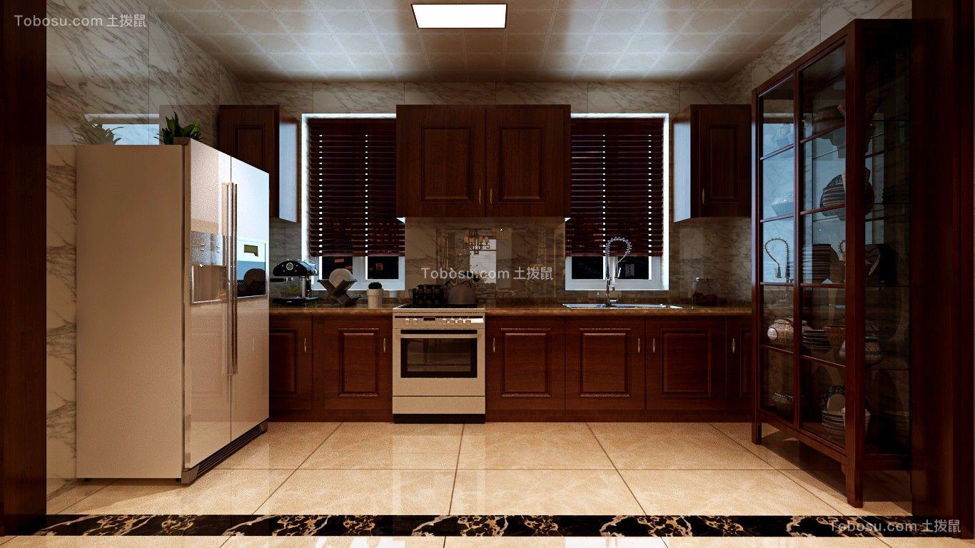 厨房 橱柜_140平中式风格三居室装修效果图
