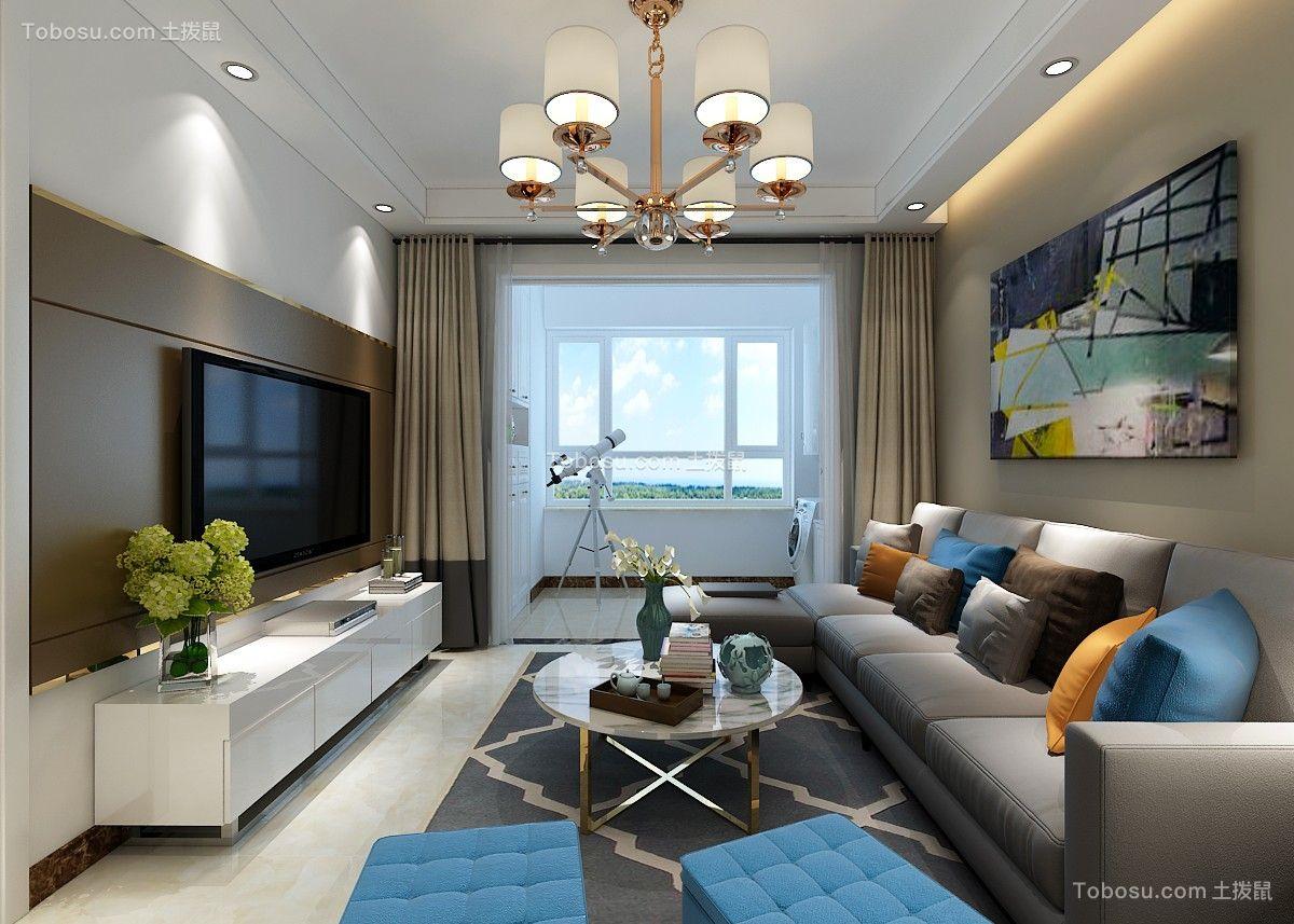 115平简约风格三居室装修效果图