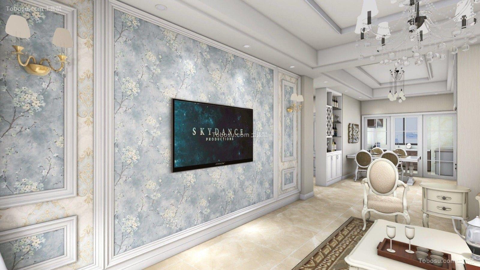 客厅背景墙简欧风格装修设计图片图片