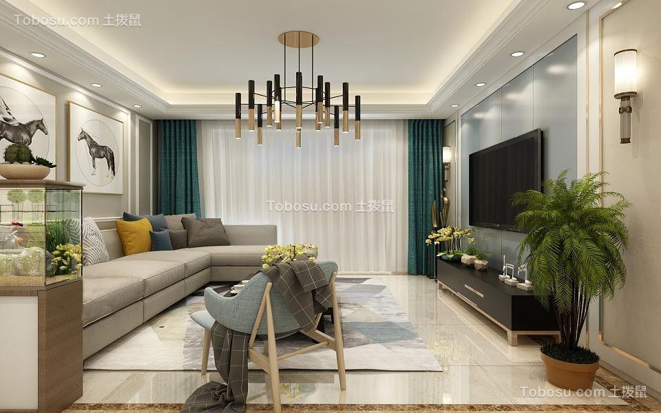 127平现代简约风格三居室装修效果图