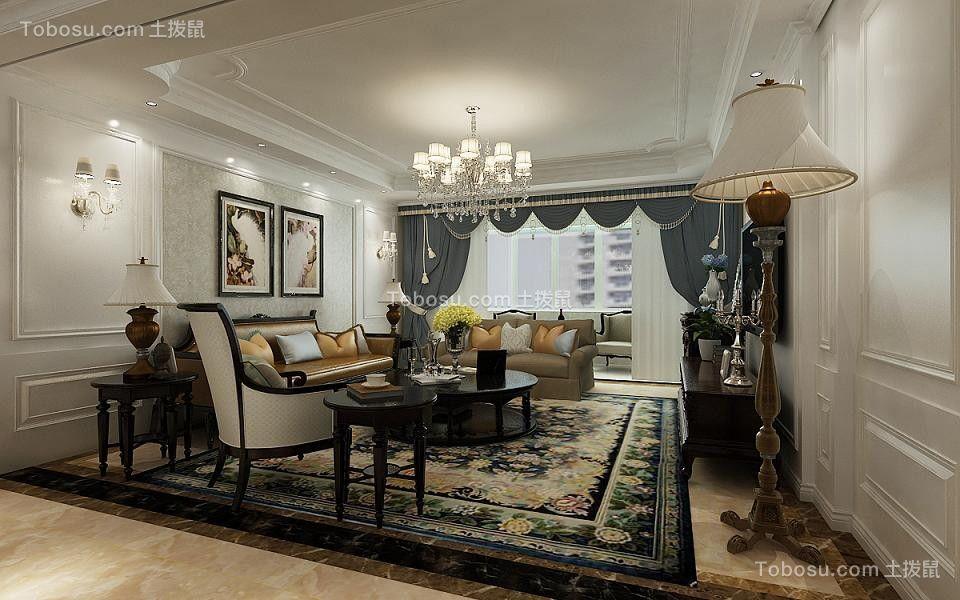 181平欧式风格四居室装修效果图