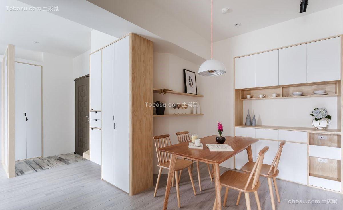 餐厅灰色地砖北欧风格装饰设计图片