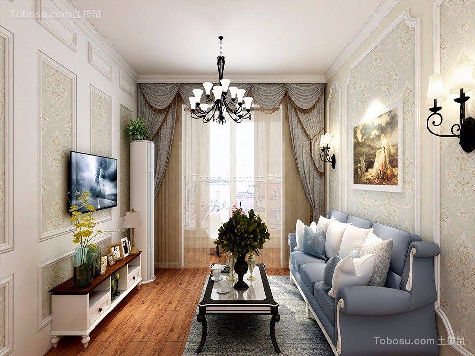 68平欧式风格两居室装修效果图