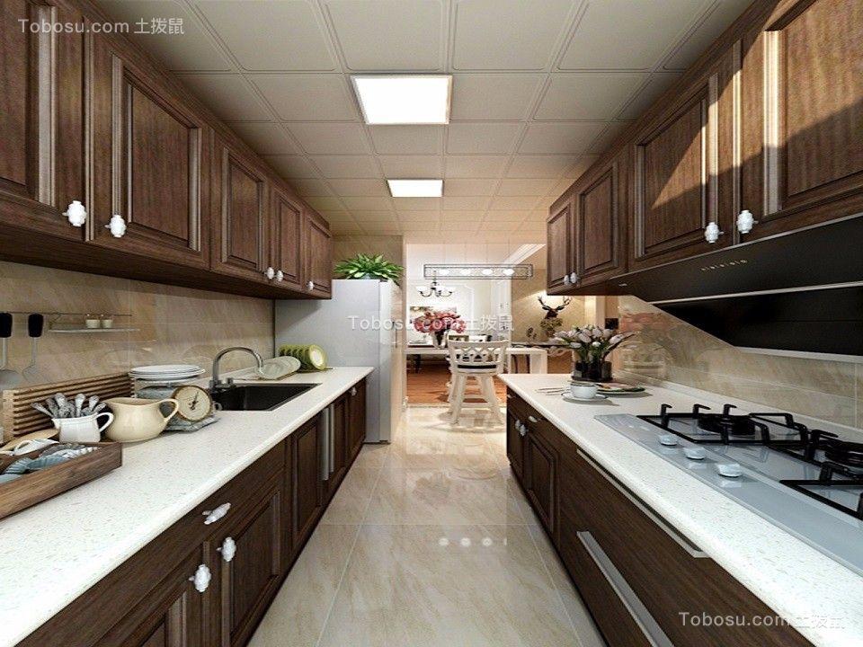 厨房 橱柜_68平欧式风格两居室装修效果图