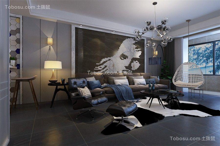 120平米北欧风格三室两厅装修效果图