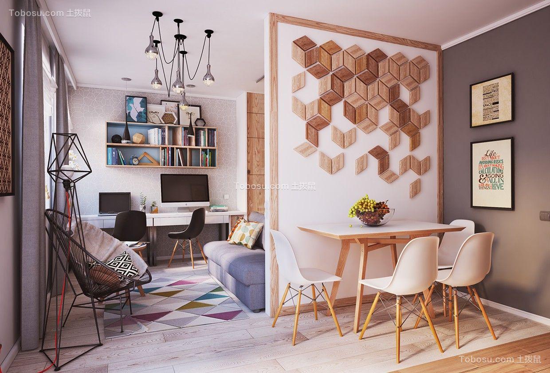 75平米简约风格公寓装修效果图